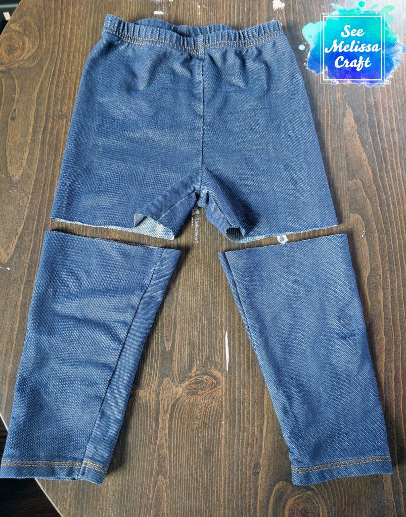 Jeggings cut for shorts