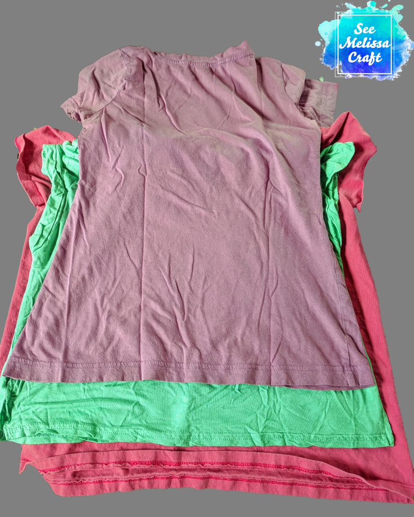 Shirts used for upcycled girl's skort