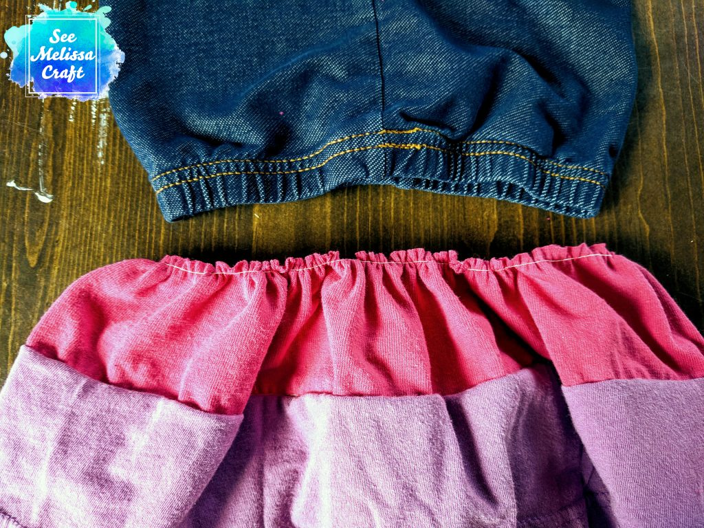 How to upcycle old clothes into a skort