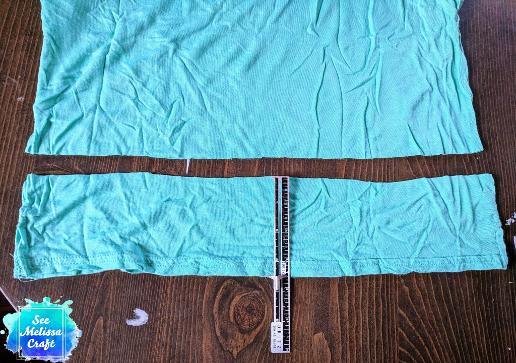 Cut narrowest shirt for third layer