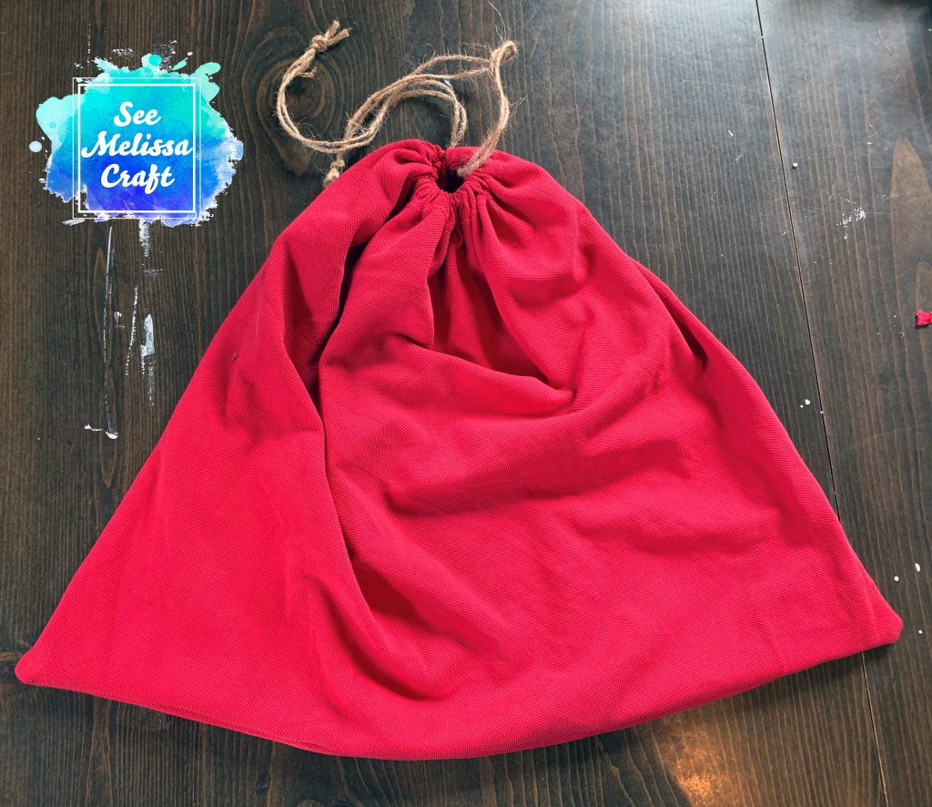 Large upcycled drawstring bag