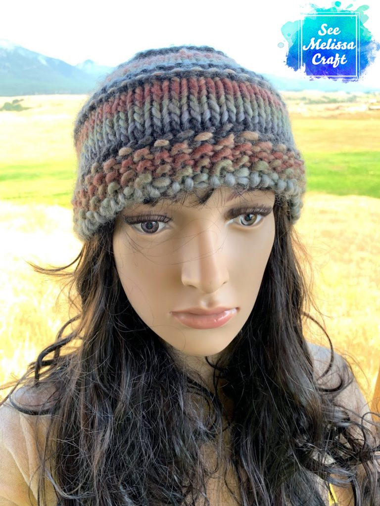 Beanie version of bulky knit hat
