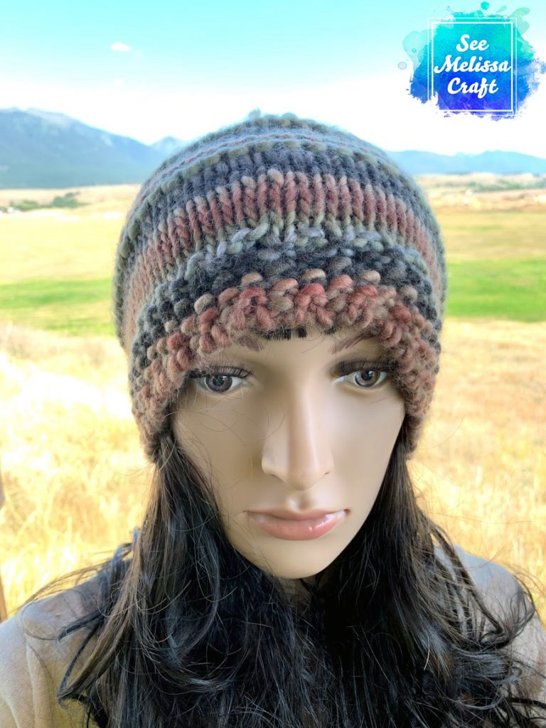 Slouchy version of bulky knit hat