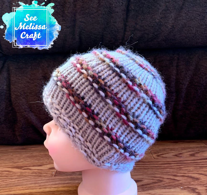 Side of child knit hat