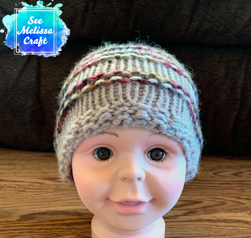 Child bulky knit hat beanie