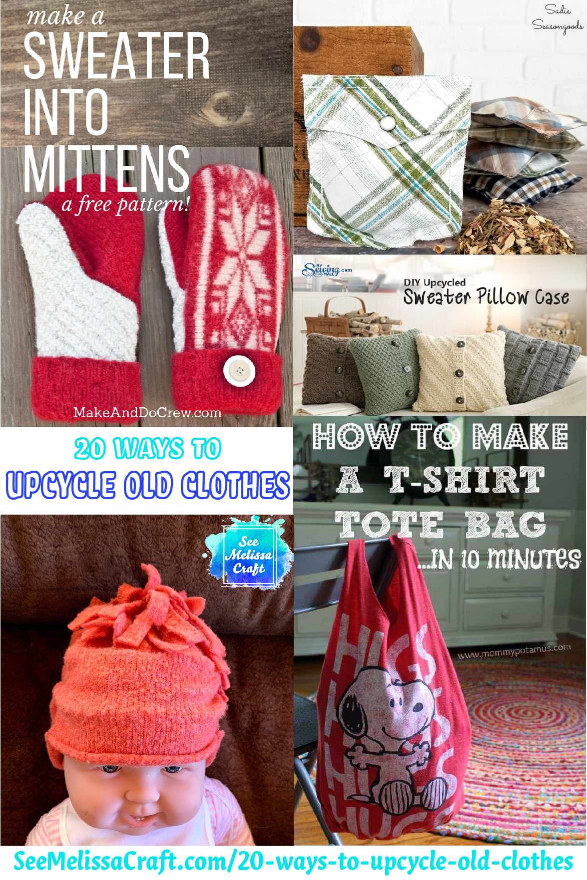 20 Ways to Upcycle Old Clothes