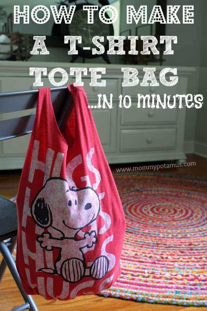 How to Make a T-Shirt Tote Bag from Mommypotamus
