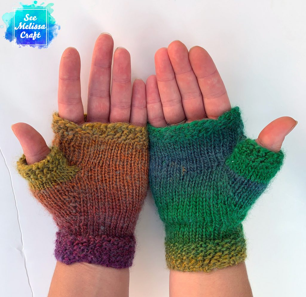 Palms of Pixie fingerless gloves