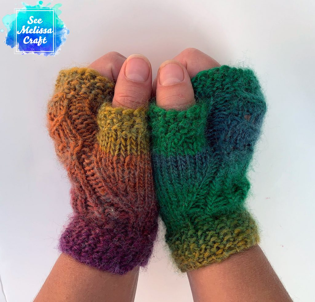 Side of Pixie fingerless gloves