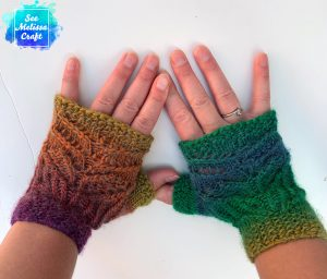 Backs of Pixie fingerless gloves