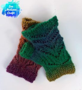 Right back of Pixie fingerless gloves