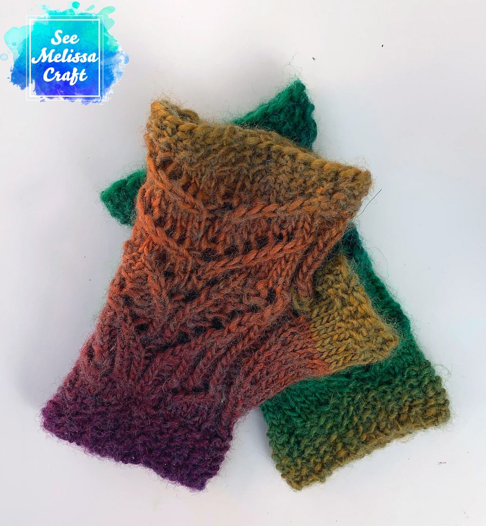 Left back of Pixie fingerless gloves