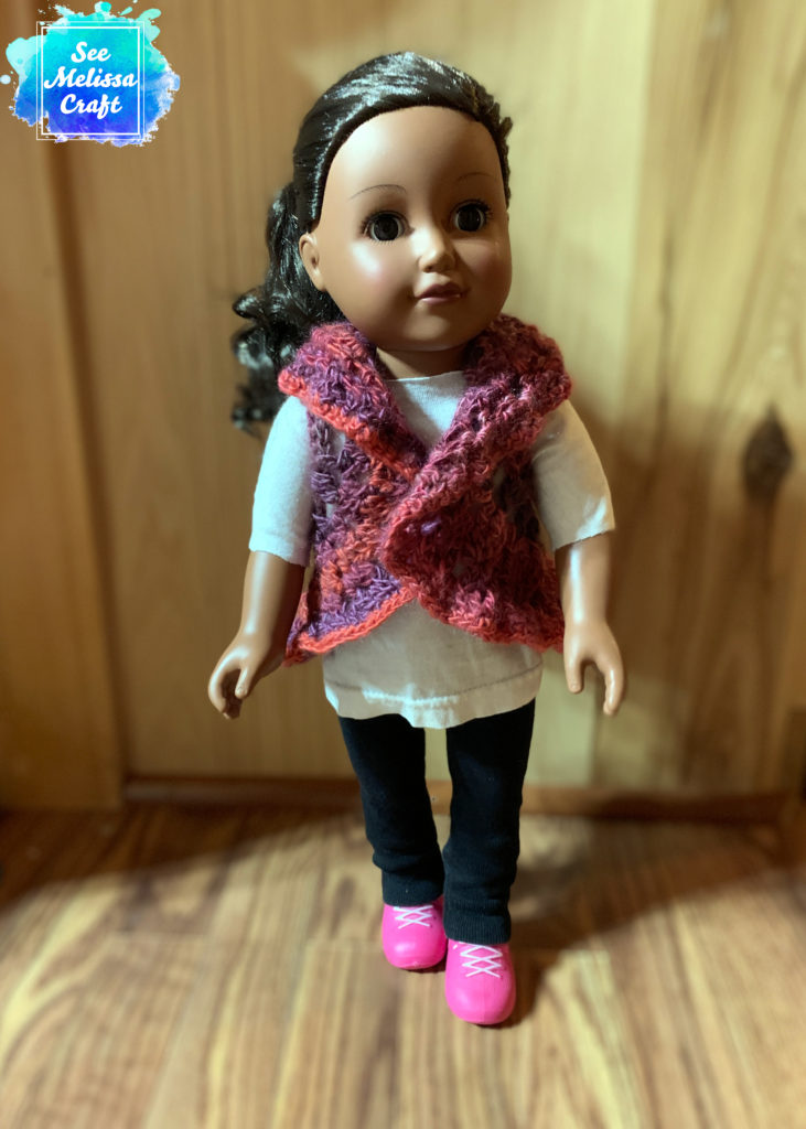 Aaliyah in her new crocheted vest