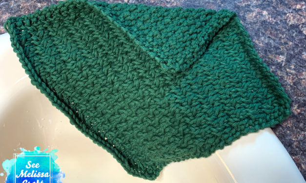Twisted Knit Washcloth Free Pattern